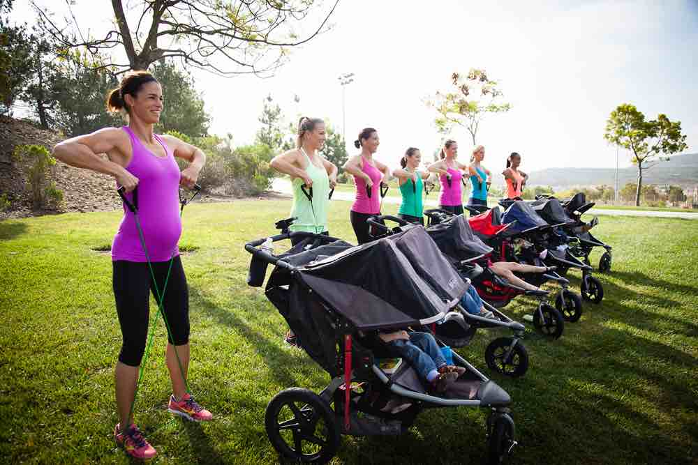 Picture of Moms Doing Stroller Strides Exercise
